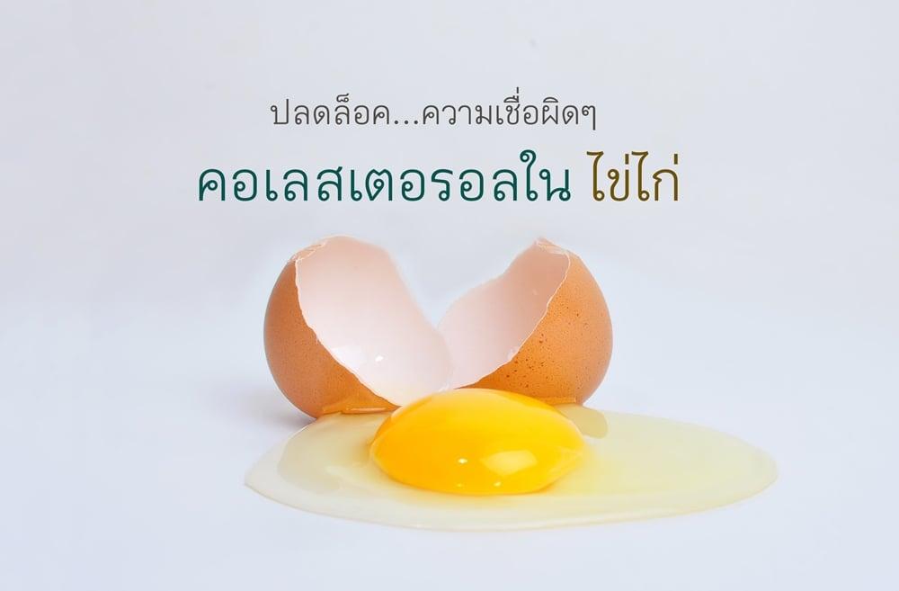 ปลดล็อคความเชื่อ คอเลสเตอรอลในไข่ไก่ thaihealth