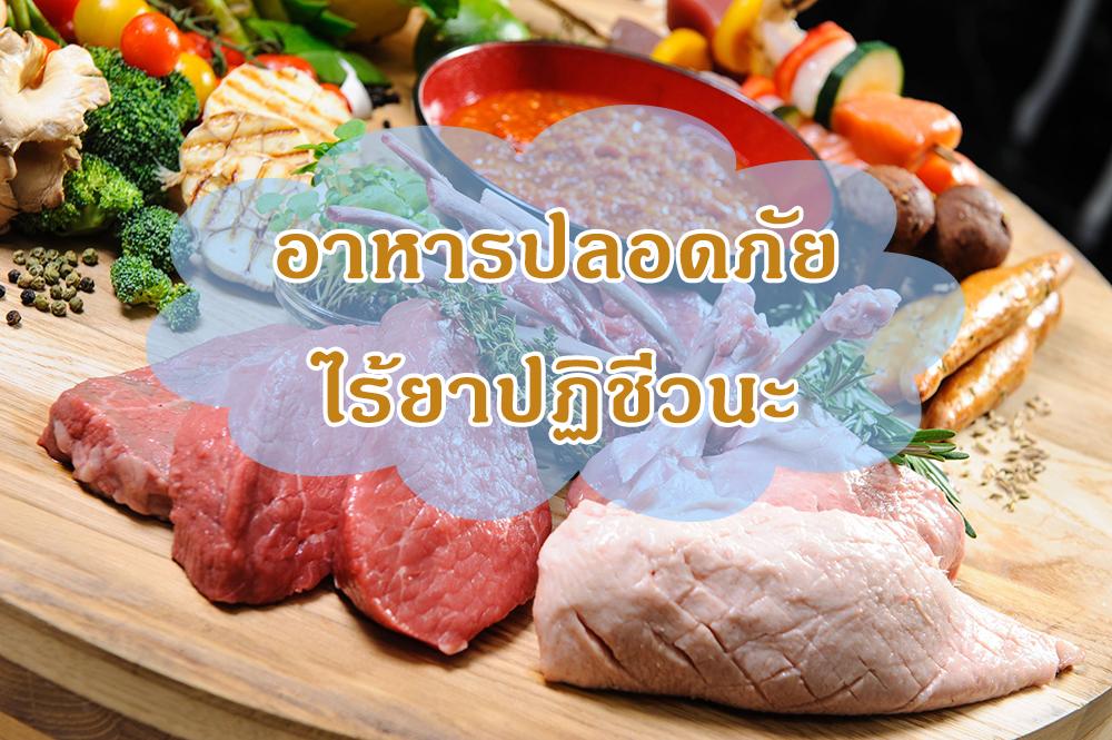 อาหารปลอดภัย ไร้ยาปฏิชีวนะ thaihealth