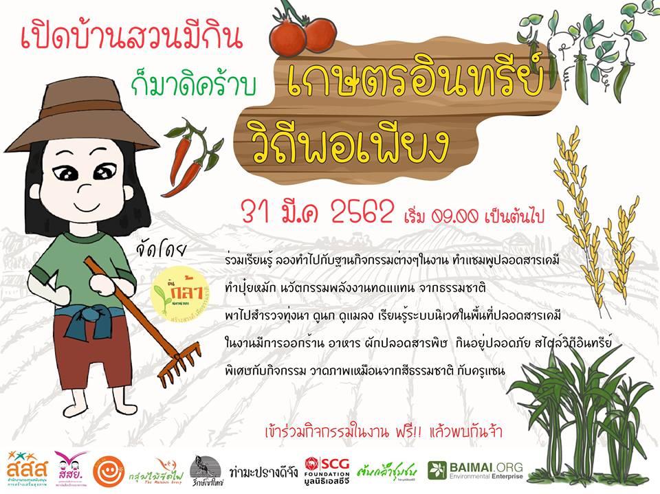 ร่วมกิจกรรม 'บ้านสวนมีกิน เกษตรอินทรีย์ วิถีพอเพียง' thaihealth