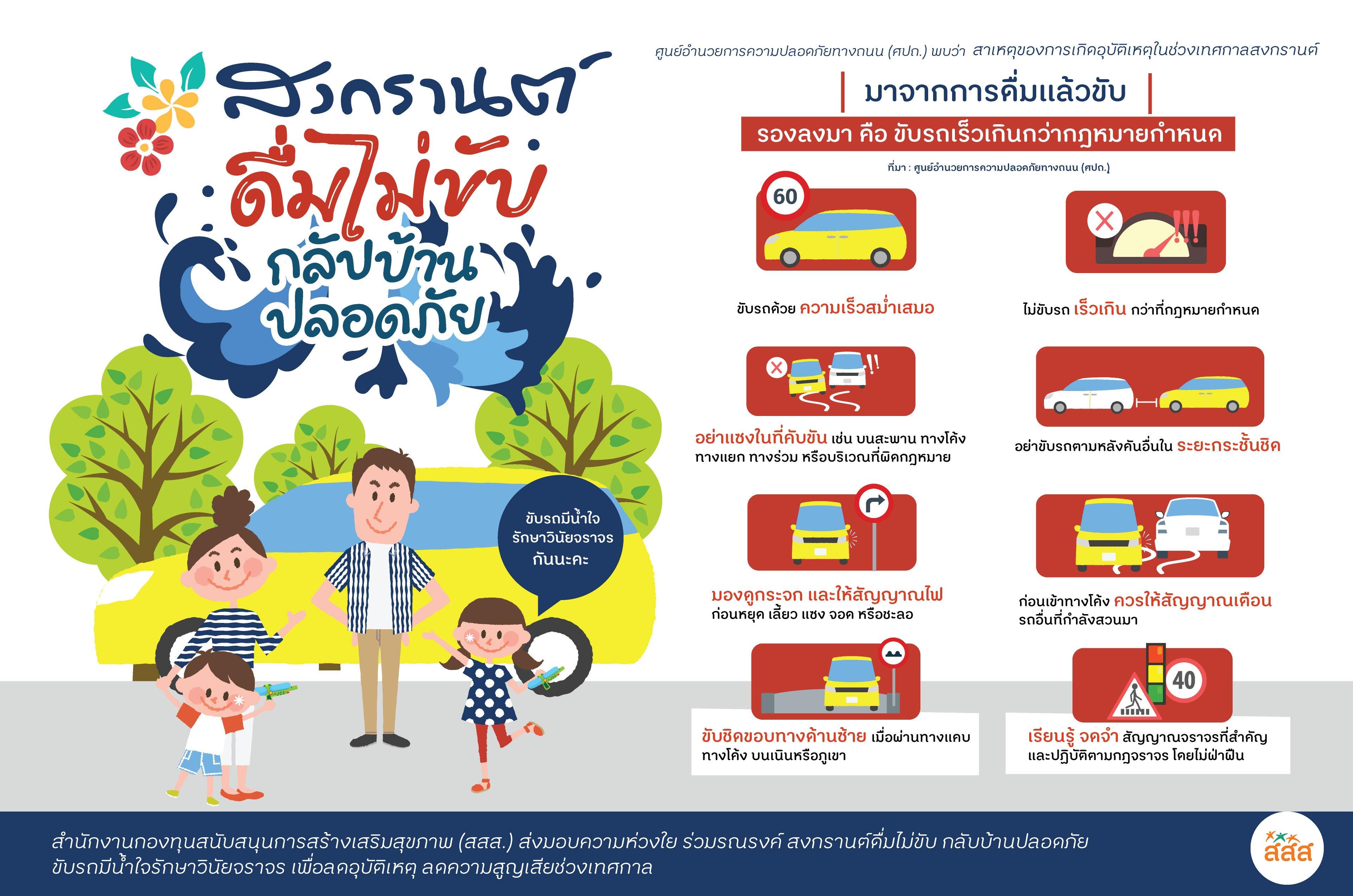 8 วิธีขับขี่ ให้สงกรานต์นี้กลับบ้านปลอดภัย thaihealth