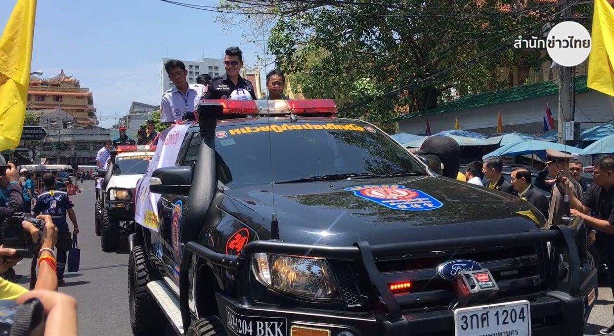 รณรงค์เมาไม่ขับ ใส่หมวกกันน็อกขับขี่สงกรานต์ thaihealth