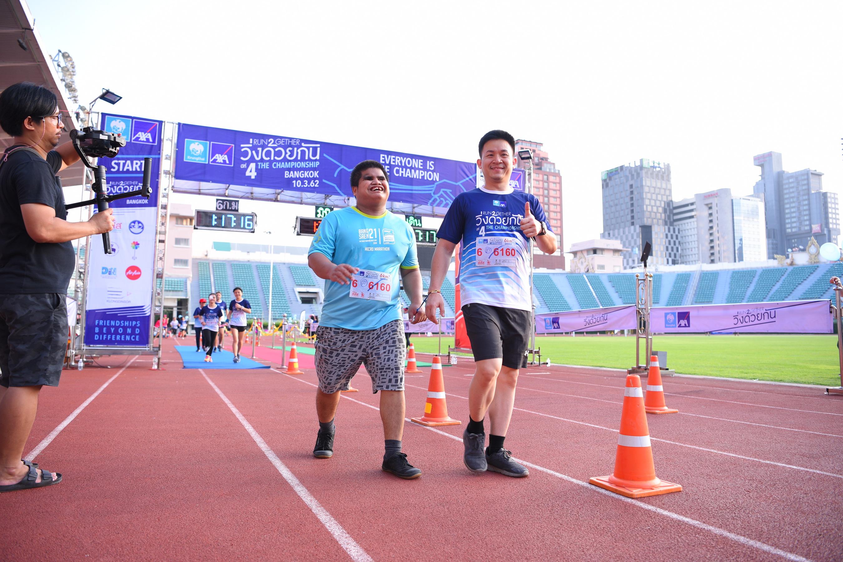 'วิ่งด้วยกัน' ความอิ่มใจของคนพิการ-ไกด์รันเนอร์ thaihealth