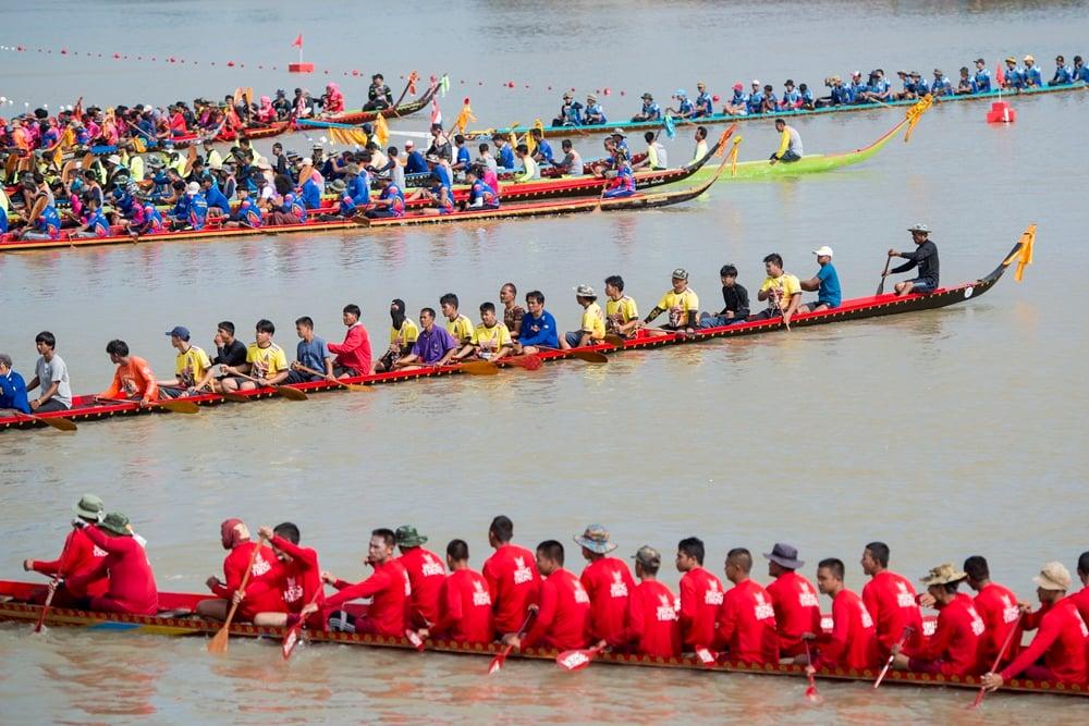 ประเพณีแข่งเรือ ปลอดเหล้า  thaihealth