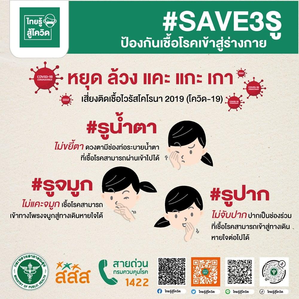 #SAVE3รู ป้องกันเชื้อโรคเข้าสู่ร่างกาย thaihealth