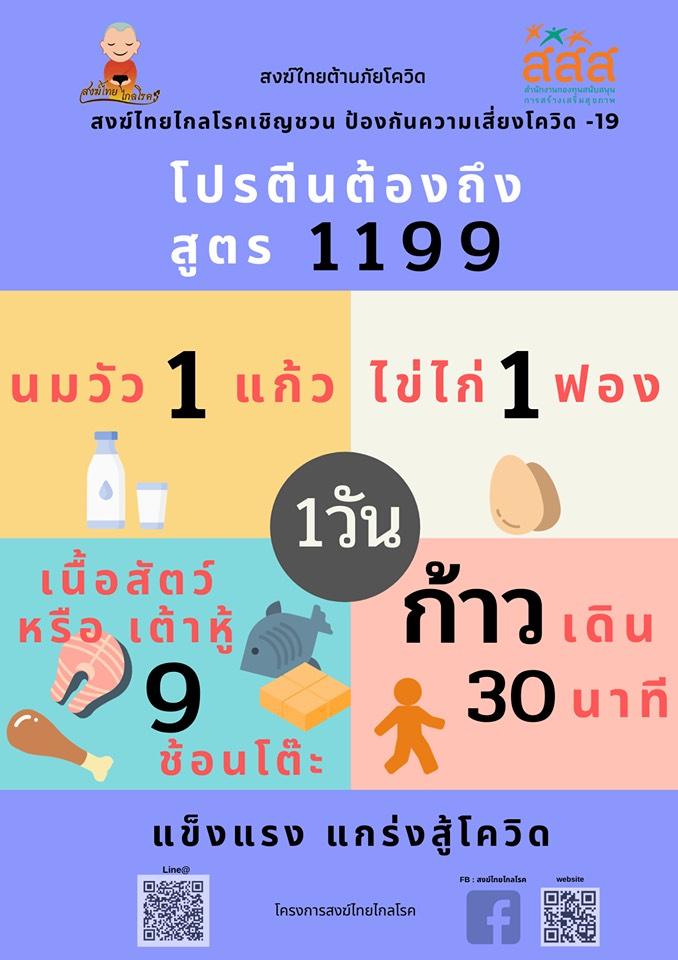 """สสส.ชวนสงฆ์ไทย """"กินร้อน ช้อนแยก แตกวง"""" ต้านโควิด-19 thaihealth"""