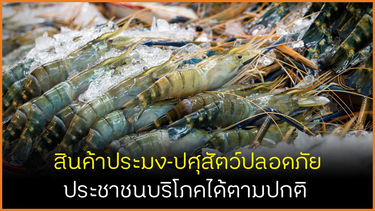 สินค้าประมง-ปศุสัตว์ปลอดภัย ประชาชนบริโภคได้ตามปกติ thaihealth