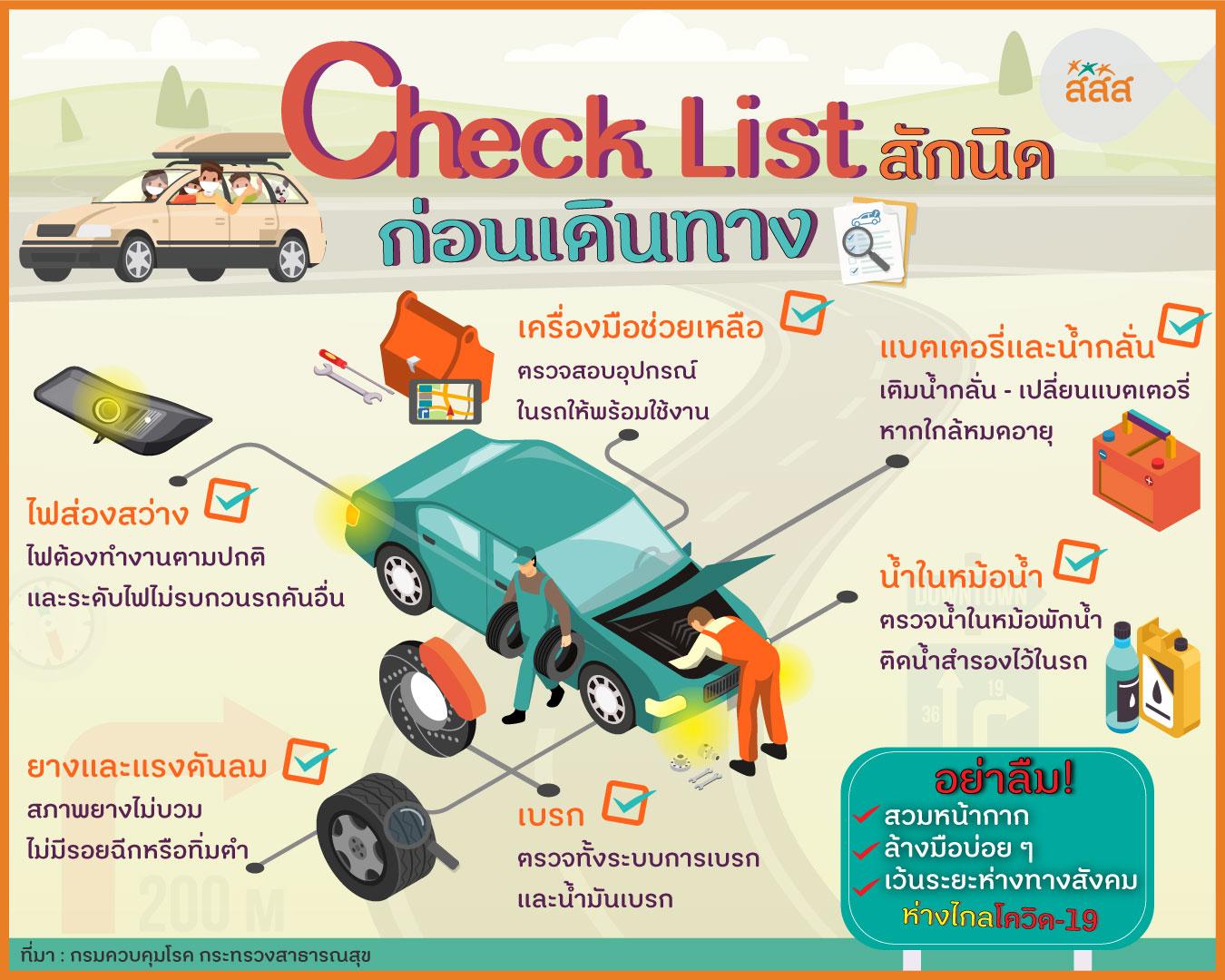 Check List สักนิดก่อนเดินทาง thaihealth