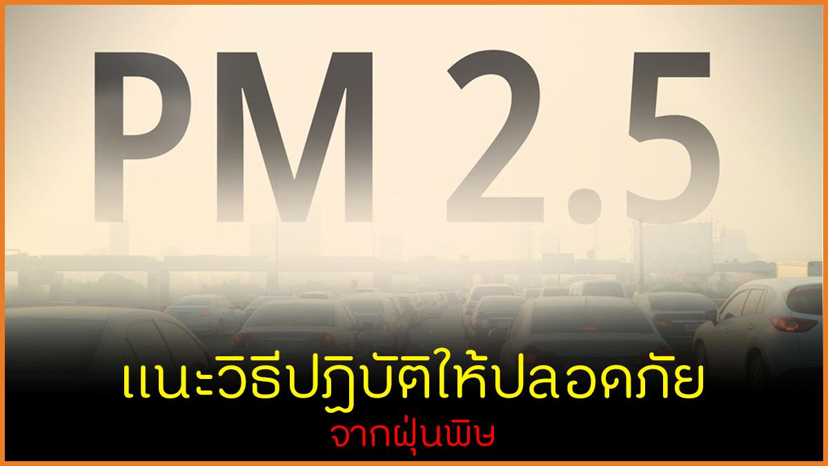 แนะวิธีปฏิบัติให้ปลอดภัยจากฝุ่นพิษ thaihealth
