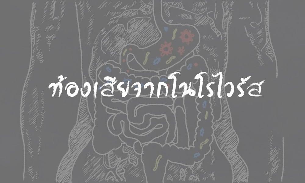 ท้องเสียจากโนโรไวรัส  thaihealth